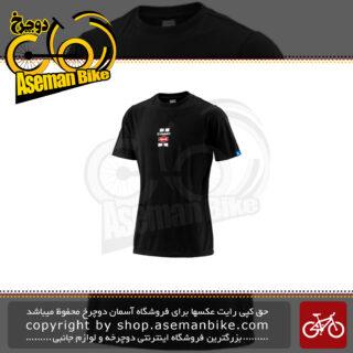 لباس دوچرخه سواری تی شرت جاینت مدل آلپسین تیم آستین کوتاه مشکی سایز ایکس لارج Bicycle Team Giant Alpecin Tee short Sleeve jersey Black XL