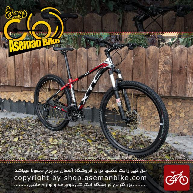 دوچرخه کوهستان جاینت ایکس تی سی اس ال ار کاستوم سایز 27.5 30 سرعته مشکی و سفید و قرمز Giant Bicycle XTC SLR Costum Size 27.5 30 Speed Black & White & Red