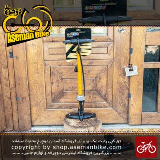 تلمبه زمینی انرژی رنگ زرد ساخت تایوان Energi Floor Pump Yellow Made Taiwan