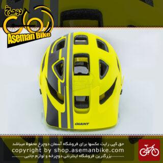 کلاه دوچرخه سواری کوهستان برند جاینت مدل ریل با فناوری میپس سایز 59-55زرد-مشکی Giant Bicycle Helmet RAIL MIPS Large 55-59 CM 310 G Yellow Black