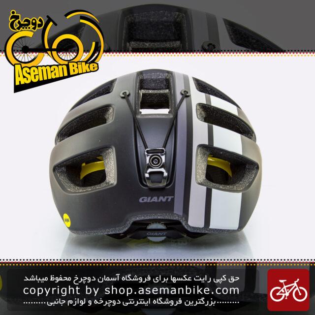 کلاه دوچرخه سواری جاینت مدل ریل میپس مشکی-خاکستری سایز 65-59 سانتی متر Giant Bicycle Helmet Rail Mips Black/Grey size 59-65 cm