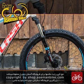 دوچرخه فلش مدل اچ 14 سایز 26 21 سرعته 2020 نقره ای و آبی و قرمز Bicycle Flash H14 Size26 21Speed 2020 Silver & Blue & Red