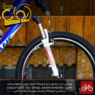 دوچرخه کوهستان شهری ژیتان سایز 26 با سیستم دنده 21 سرعته آبی سفید نارنجی Gitane Bicycle MTB City Size 26 21 Speed Blue White Orange