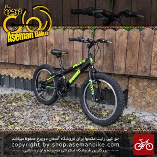 دوچرخه رامبو ساحلی مدل والور سایز 20 با سیستم دنده 18 سرعته مشکی و سبز Rambo Sand Bicycle Model Valour Size 20 18 Speed Black & Green