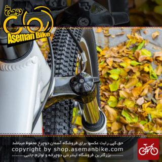 دوچرخه کوهستان شهری ریبوک سایز 26 با سیستم دنده 21 سرعته سفید و آبی و قرمز Reebok MTB City Bicycle Size 26 21 Speed White & Blue & Red