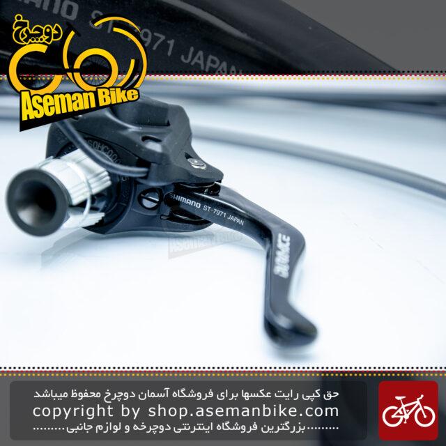 ست دسته دنده/ترمز برقی دوچرخه گورسی جاده شیمانو سری دی آی 2 دورا ایس مدل اس تی 7971 ساخت ژاپن Shimano Japan On-road Bicycle DI2 Shifter/Brake lever Dura Ace ST7971