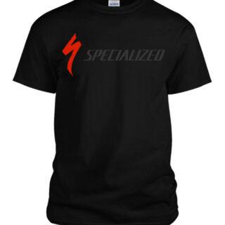 تیشرت ورزشی مشکی برند طرح کنندیل مدل اسپشیالایزد 0113 مشکی پنبه ای یقه گرد 2021 Meshki Brand Sport T-Shirt Specialized Expo0113