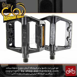 پدال دوچرخه ولگو پهن میخ دار مدل 008-111 مشکی Wellgo Bicycle Pin Pedal Wide 008-111 Black