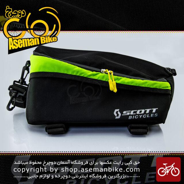 کیف روی ترک دوچرخه اسکات مشکی-سبز SCOTT Bicycle Rack Back Carrier Bag Black-Green