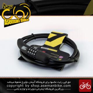 قفل کابلی سیم بکسلی رمزی دوچرخه برند انرژی مدل BBE0014 قطر 10 میلیمتر با طول 900 میلی متر مشکی Cable Lock Bicycle Brand ENERGI Size 900x10mm Model BBE0014 Black