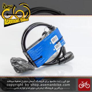 قفل اطمینان دوچرخه جاینت مدل استریت مشکی 900 میلی متری آسان نصب Giant Cable locks Bicycle Sure-Lock Straight Black 900 Mm