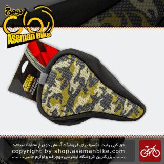 روکش زین دوچرخه چرمی دور دوخت تنظیمی برند انرژی ارتشی Energi Leather Army Bicycle Saddle Cover