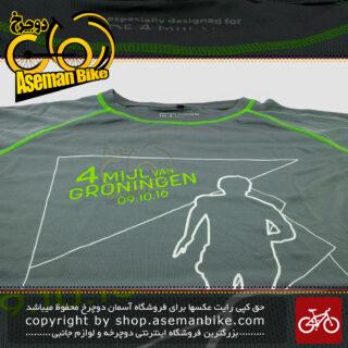 تیشرت ورزشی/دوچرخه سواری برند منزیس مدل دی فور می جی ال-ون گرونینژن سایز لارج اروپایی 100 در صد پولیستر Menzis Sport T-shirt Cycling D4 MIJL Van Groningen Large