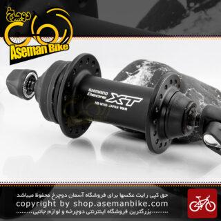 توپی جلو دوچرخه شیمانو سری دئور اکس تی مدل ام 765 ساخت ژاپن مشکی Shimano Bicycle Front Hub Deore XT M765 Japan Black