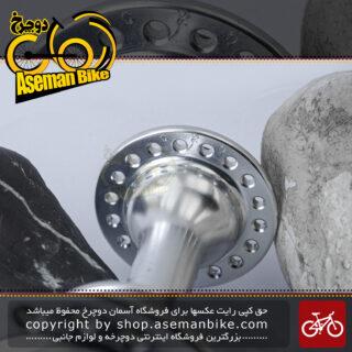 توپی جلو دوچرخه شیمانو مدل اچ بی-سی 25 نقره ای 18 سوراخ Shimano Bicycle Front Hub HB-C25 Silver 18H