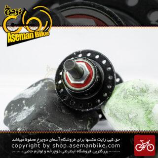 توپی چرخ جلو دوچرخه شیمانو مدل ان ال 18 سوراخ مشکی Shimano Bicycle Front Hub NL 18H Black