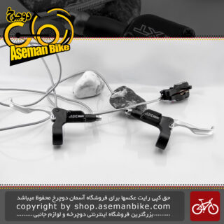 ست دسته ترمز هیدرولیک دوچرخه شیمانو ژاپن چپ/راست سری دیور اکس تی ام-775 دست دوم Shimano Bicycle Hydraulic Disc Brake Lever set Deore XT M-755 Black Japan