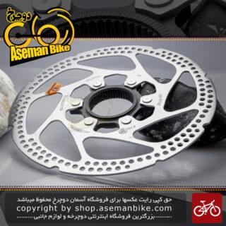 روتور صفحه دیسک دوچرخه شیمانو ژاپن مدل آر تی 62 نقره ای 160 میلیمتری ساخت مالزی Shimano Bicycle Rotor Disc RT62 160mm Malaysia