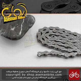 زنجیر دوچرخه کورسی جاده شیمانو سری 105 مدل 5600 10 سرعته 116 لینک ساخت ژاپن Shimano Onroad Bicycle Chain 105 Series 5600 116-Link Japan