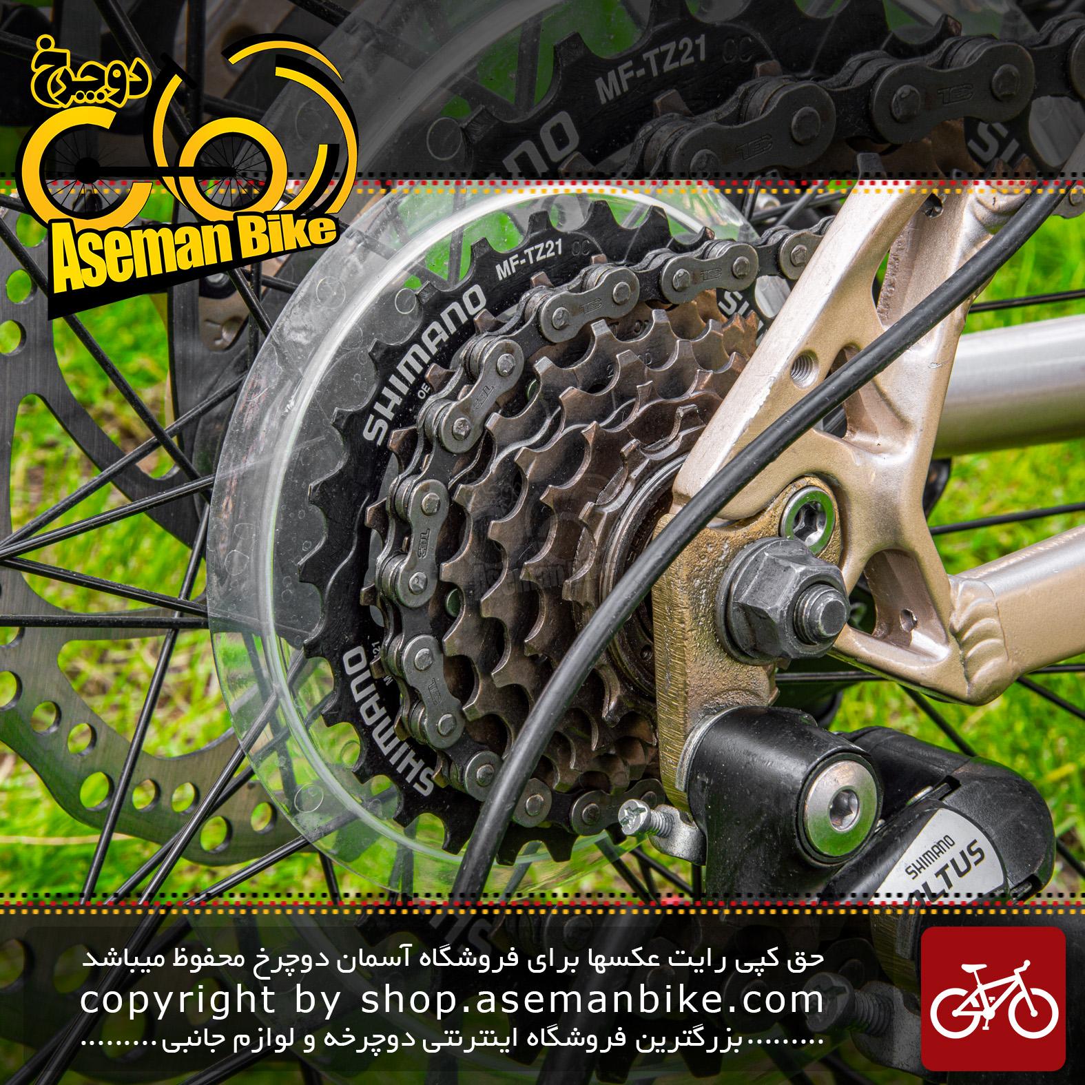 دوچرخه کوهستان بلست بانوان مدل لیدی سایز 26 با سیستم دنده 21 سرعته رنگ بژ و فیروزه ای کاستوم شده Bicycle Blast Lady Size 26 21 Speed Beige & Turquoise Costume