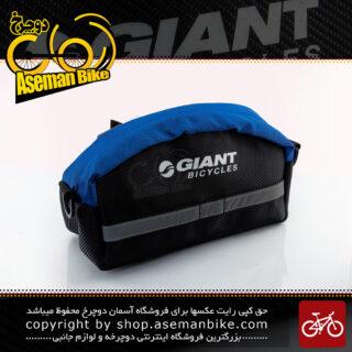 کیف جلو فرمان دوچرخه با قابلیت استفاده به صورت کیف کمری مدل کی تی ام مشکی-آبی GIANT Bike Handlebar Bag Black-Blue