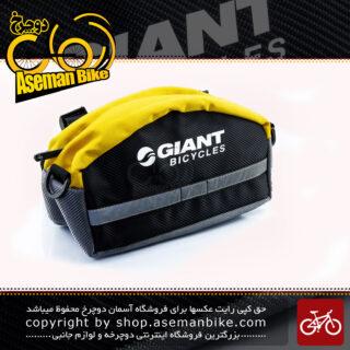 کیف جلو فرمان دوچرخه با قابلیت استفاده به صورت کیف کمری مدل جاینت مشکی-زرد GIANT Bike Handlebar Bag Black-Yellow