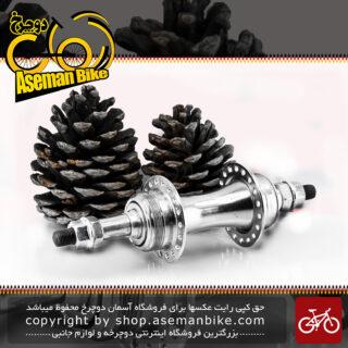 توپی عقب دوچرخه رزوه ای های بایک استیل 36 سوراخ نقره ای HIBICK Bicycle Rear Hub 36 hole Silver