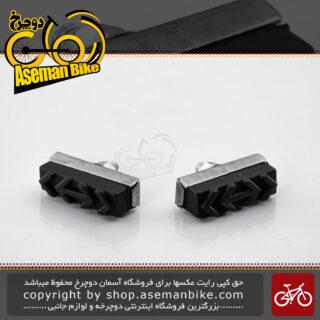لنت ترمز دوچرخه پالدیک مدل جی 600 مناسب برای دوچرخه های سایز 12 تا 26 نقره ای PALDEC Bicycle Brake G 600 Silver
