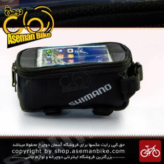کیف روی تنه دوچرخه برند شیمانو مدل وتین مشکی SHIMANO Bicycle Saddle Bag VATEN Black