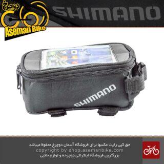 کیف روی تنه دوچرخه برند شیمانو مدل واتن مشکی SHIMANO Bicycle Saddle Bag VATEN Black
