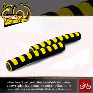 گریپ دوچرخه برند ترکام مشکی-زرد TERCOM Grip Black-Yellow