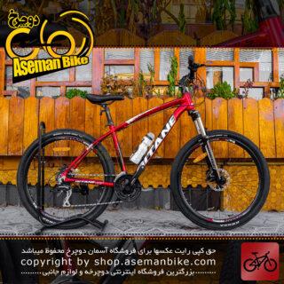 دوچرخه کوهستان جیتان مدل جی تی 600 ست شیمانو سایز 26 مشکی قرمز Gitane MTB Bicycle GT600 26 Shimano Set Black Red