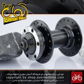 توپی چرخ جلو دوچرخه جوی تک مدل جی تی 0013 مشکی 18 سوراخ Joy Tech Bicycle Front Hub JT0013 Black 18H