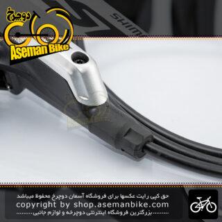 ترمز دوچرخه کوهستان دیسک هیدرولیک شیمانو سری اس ال ایکس مدل ام 675 ساخت ژاپن تکی جلو Shimano MTB Bicycle Hydraulic Disk Brake SLX M675 Japan