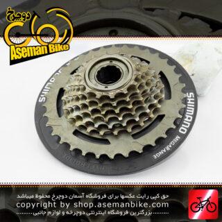 خودرو دوچرخه شیمانو مدل ام اف - تی زد 31 مگا رنج 14-34 دندانه Shimano Cassett Bicycle MF-TZ31 Megarange 14-34T