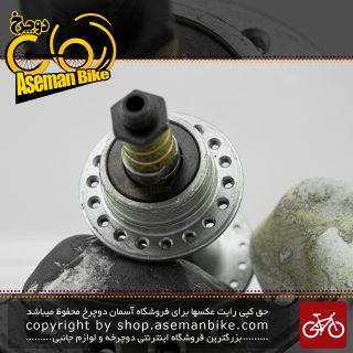 ست جلو عقب توپی دوچرخه شیمانو مدل اچ بی-ام 013 نقره ای 18 سوراخ Shimano Bicycle Front/Rear Hub Set HB-M013 Silver 18H