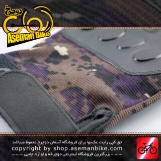 دستکش دوچرخه سواری تیلت نیم پنجه مدل چریکی مشکی/قهوه ای Tilt Bicycle Sport Glove Half Guerrilla Black/Brown