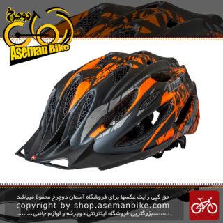 کلاه ایمنی دوچرخه سواری کوهستان لیمار مدل 757 سوپر سبک وزن رنگ مشکی نارنجی مات سایز لارج 57 تا 61 سانت طراحی ایتالیا Limar MTB Bicycle Helmet 757 Super Light Matt Black Orange Italy