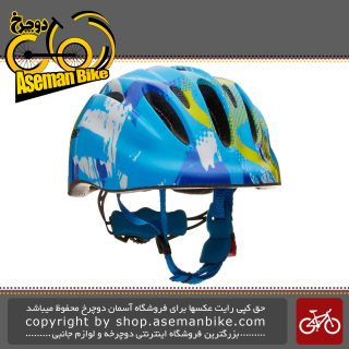 کلاه ایمنی دوچرخه بچه گانه برند لیمار مدل 149 سوپر سبک وزن سایز مدیوم 50 تا 57 سانت رنگ آبی طرح ستاره ای طراحی ایتالیا Limar Bicycle Helmet Kids 149 Blue Star Superlight M 50-57cm Italy