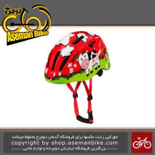 کلاه ایمنی دوچرخه بچه گانه برند لیمار سوپر سبک وزن مدل 224 سایز اسمال 46 تا 52 سانت رنگ قرمز گاو چران طراحی ایتالیا Limar Bicycle Helmet Kids 224 S 46-52cm Superlight Red Grazing Italy