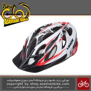 کلاه ایمنی دوچرخه لیمار اسپورت اکشن مدل 690 سایز لارج 57 تا 62 سانت طراحی ایتالیا رنگ سفید قرمز مات Limar Bicycle Helmet Sport Action 690 L 57-62cm Matt White Red