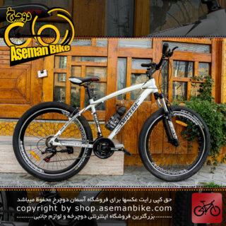 دوچرخه کوهستان تویتر مدل دراگون ست دنده/ترمز شیمانو سایز 26 مشکی سفید 21 سرعته Twitter Bicycle Dragon 26 Shimano-set 21 Speed Black\White