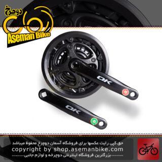 طبق قامه دوچرخه کوهستان برند اوکی 3-سرعته مدل 1000573 سایز 26 مشکی OK Bicycle Crankset 3-Speed 1000573 26 Black