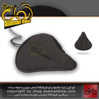 روکش زین پهن ژل دار دوچرخه برند کریویت مدل 97862 ساخت آلمان مشکی CRIVIT Bicycle Saddle Cover Ergonomic Gel 97862 Germany Black