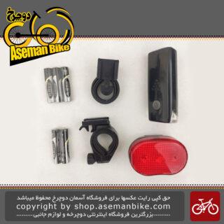 مجموعه ست چراغ جلو و عقب باتری دوچرخه اکس سی 104305 Bicycle Light set Head light And Tail light XC-104305