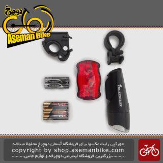 مجموعه ست چراغ جلو و عقب باتری اکس سی 785783 Bicycle Light set Head light And Rear light XC-785783