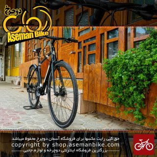 دوچرخه هیبرید شهری مریدا بدنه دست ساز تایوان طراحی آلمان مدل کراس وی اربان 100 ست شیمانو سایز 28 رنگ مشکی/سفید 2018 Merida Hybrid Bicycle CrossWay Urban 100 Handmade in Taiwan Shimano-Set 28 Black/White 2018