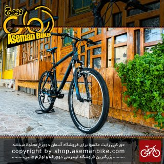 دوچرخه کوهستان مریدا مدل مت 6.10 ست شیمانو 21 سرعته سایز 26 رنگ مشکی/آبی درخشان 2018 Merida MTB BicycleMATT 6.10 Shimano-set 21speed Size 26 Black\Luminance Blue 2018