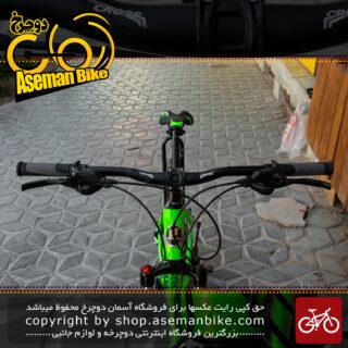 دوچرخه کوهستان برند کراس سایز 27.5 رنگ سبز و مشکی با سیستم دنده 24 سرعته MTB Bicycle Cross Aspect Size 27.5 24 Speed
