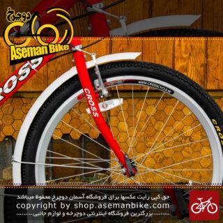دوچرخه توریستی شهری برند کراس مدل سیتی استورم سایز 26 رنگ قرمز و مشکی با سیستم دنده 6 سرعته City Tourist Bicycle Cross City Storm Size 26 Red & Black 6 Speed